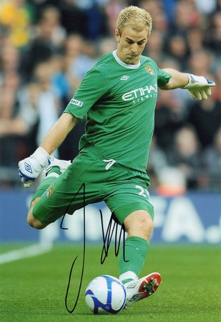 Joe Hart, Manchester City & England, signed 12x8 inch photo.